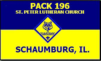 cub pack 196 chartered by St.Peter Lutheran Church